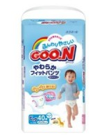 大王GOON 紙尿褲 (MADE IN JAPAN) 囝囝XL碼 12-20kg (38片)